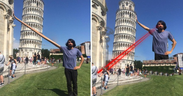 ピサの斜塔で記念撮影に失敗!修正を頼んだら怒涛の大喜利合戦へ