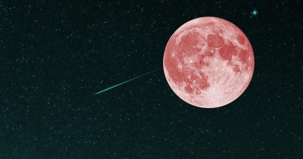 今夜は年に一度のピンクムーンと流星群!今宵は空を見上げてみよう