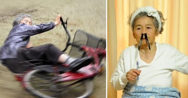 【自分の意思でやってます!】87歳のアマチュアカメラマンの自撮り作品に吹き出す