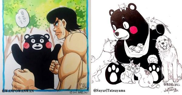 熊本を描いて応援!続々投稿される人気漫画家の「くまモンイラスト」が見逃せない