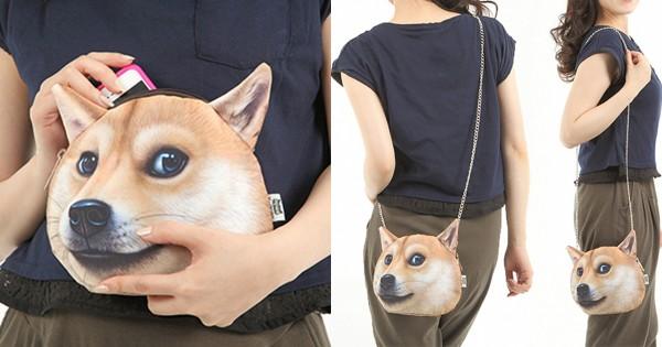 柴犬好きは見逃せない?! リアルすぎて持ち歩ける気がしない柴犬のバッグが話題に