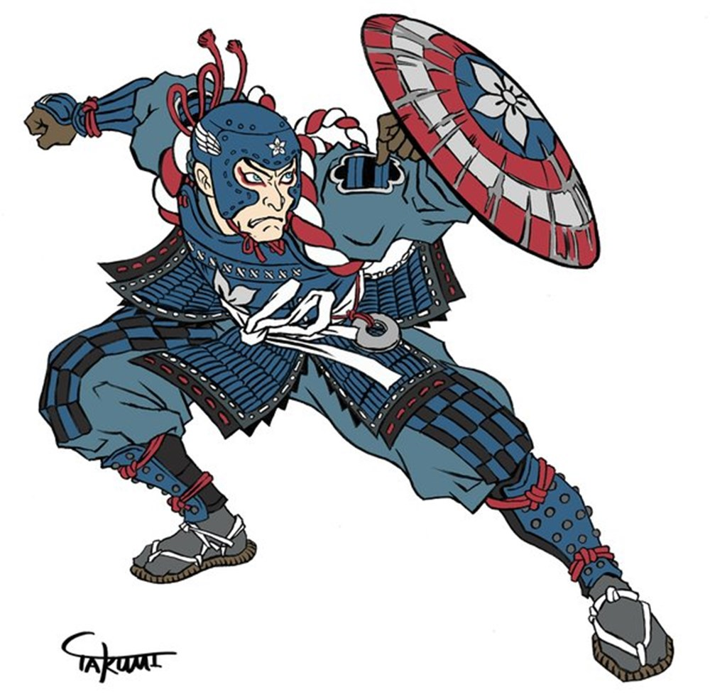 歌舞伎のキャプテンアメリカ