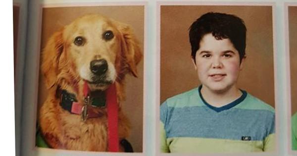 犬が写っている卒業アルバム、その理由が感動的だと世界が涙