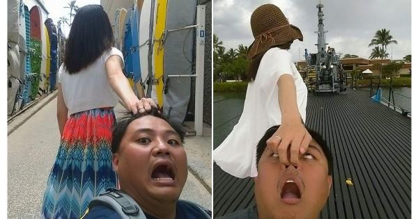 彼女は猟奇的!台湾の「彼氏を引きずり回す彼女の後ろ姿」に吹き出す