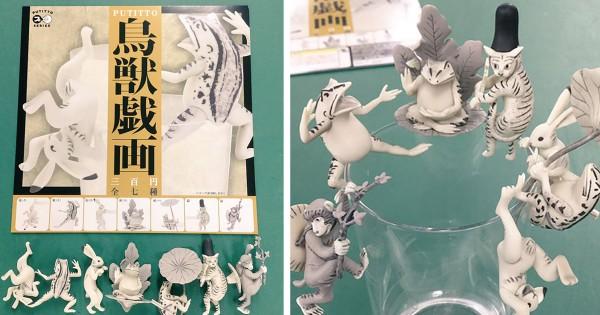 絵巻物から出てきた!フチ子シリーズの新作「鳥獣戯画」のガチャがめっちゃ可愛い