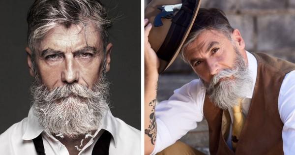 ヒゲ伸ばしたら人生変わった!60歳でモデルデビューした男性がダンディで惚れる