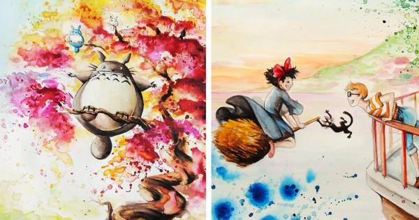 ジブリ愛が生んだ傑作!フランス人の水彩画に心が引き込まれて戻ってこれない