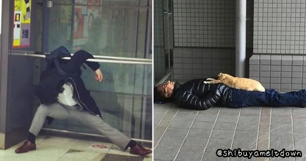 今日も日本は平和です!渋谷で爆睡している人の画像だけを集めたInstagramがヒドイ
