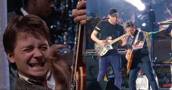 これは胸熱!マイケル・J・フォックス、コールドプレイと「バック・トゥ・ザ・フューチャー」神曲をセッション