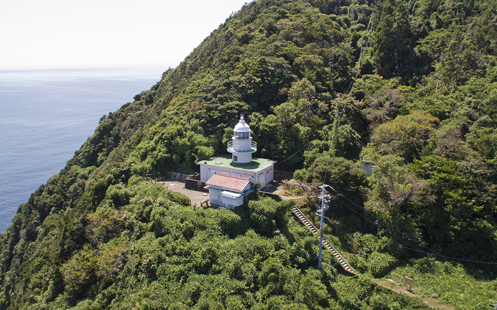 神島灯台空撮