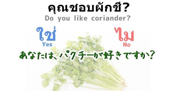 「タイ人にパクチー嫌いはいるの?」1泊3日弾丸観光で聞いてきた