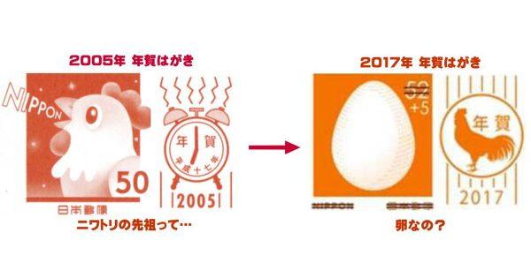 まさかの卵?! 2017年「酉年」の年賀ハガキのデザインに衝撃が走る