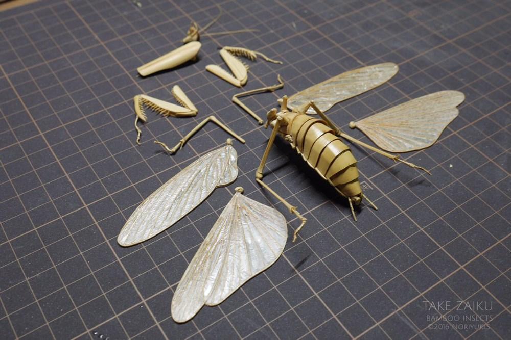 これが竹細工なんて信じられない!今にも動き出しそうな「昆虫竹細工」に息をのむ