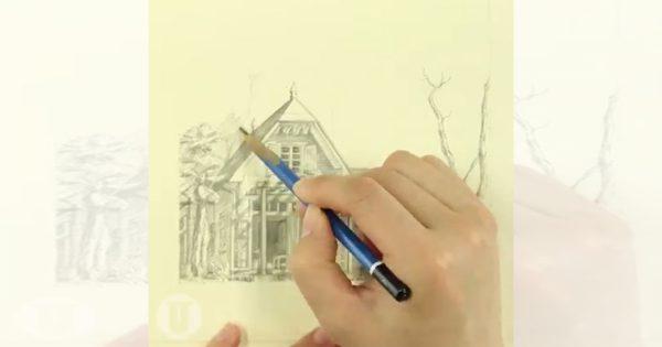 神業!鉛筆で描く「となりのトトロ」