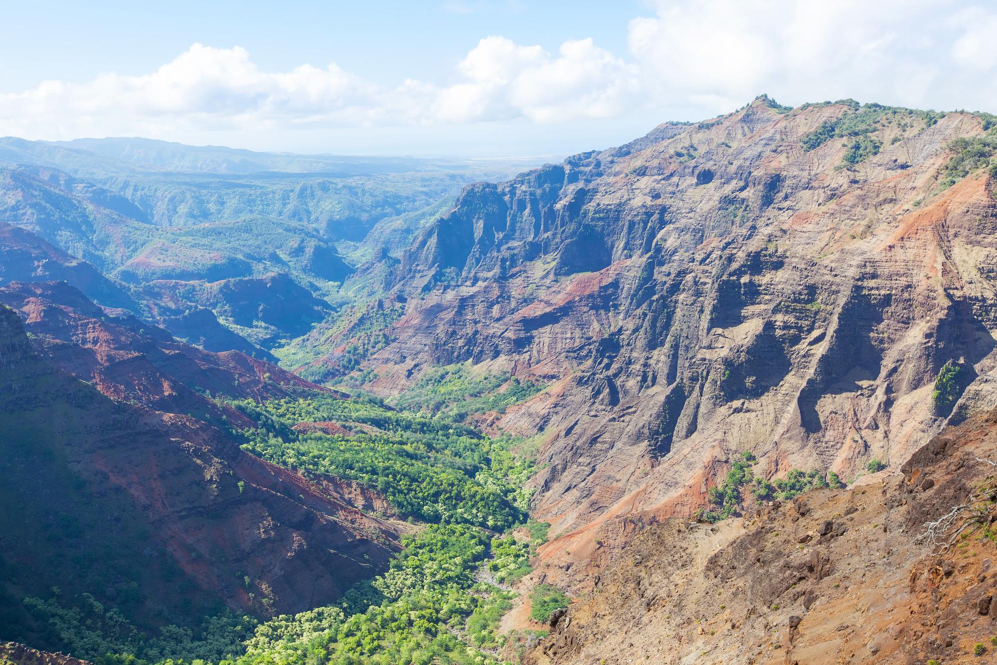 view at waimea canyon at kauai island, hawaii