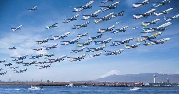 羽田でも撮影! 一日がかりで撮った飛行機を一枚に収めた写真シリーズに心奪われる
