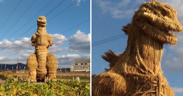のどかな田園風景に突如「シン・ゴジラ」が出現!巨大すぎて腰抜かすレベル(笑)