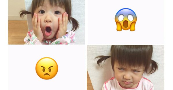 天使光臨!絵文字をモノマネする2歳の女の子が可愛さに疲れも吹っ飛ぶ