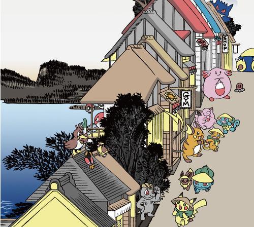 ポケモン浮世絵4