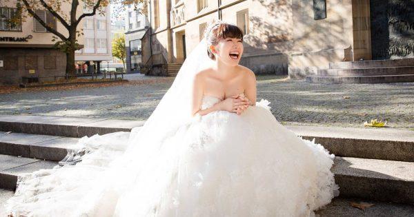 見ているこっちまで幸せな気持ちに!福原愛のウェディングドレス姿がすんごくカワイイ