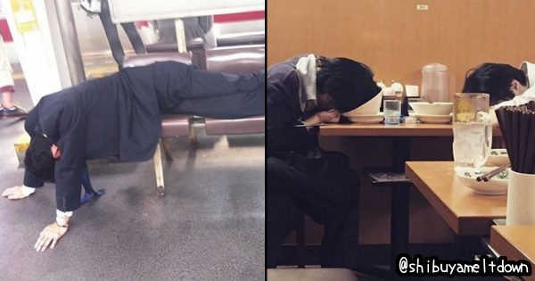 忘年会!自分への戒めに! 渋谷で爆睡している人の画像だけを集めたインスタがヤバい
