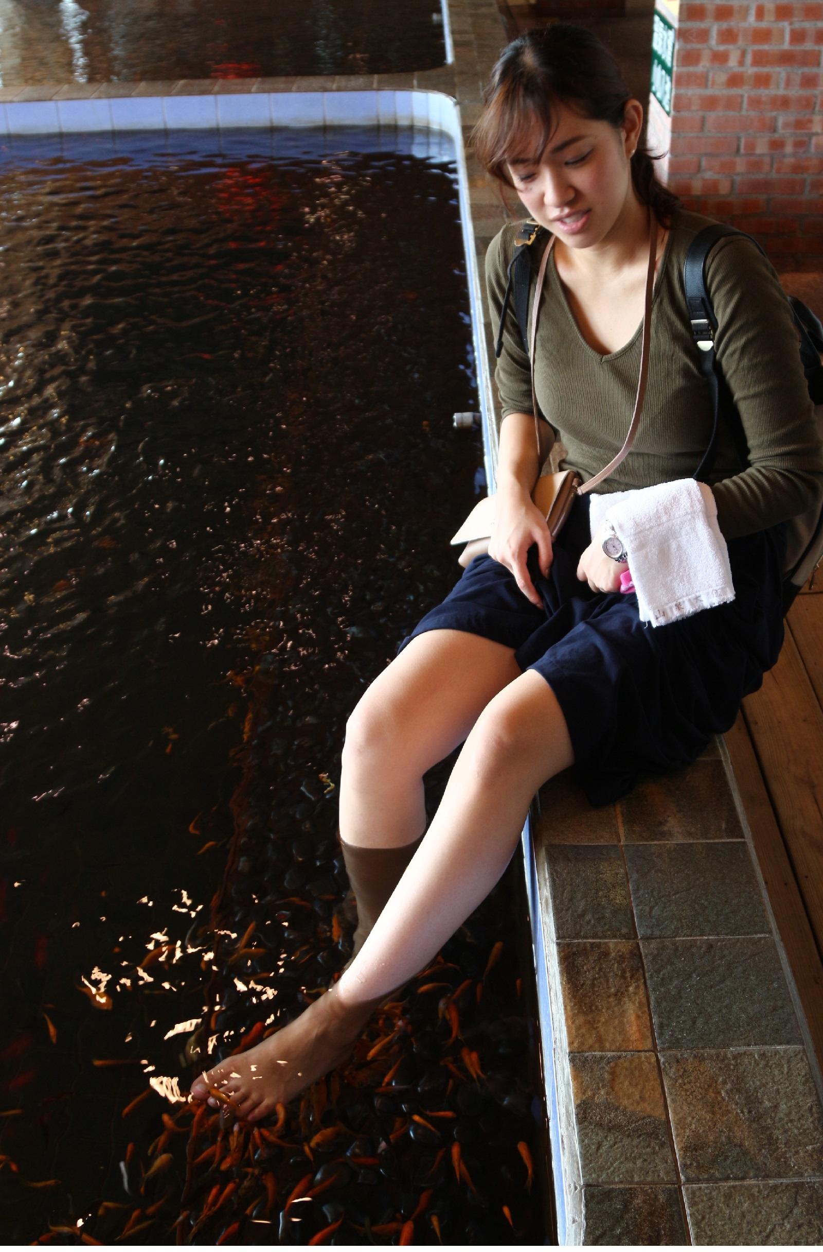Sun Spring Resortの足湯