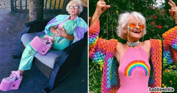 88歳の厚底ギャル?! 年齢を気にせずオシャレを楽しむおばあちゃんが超イケてる