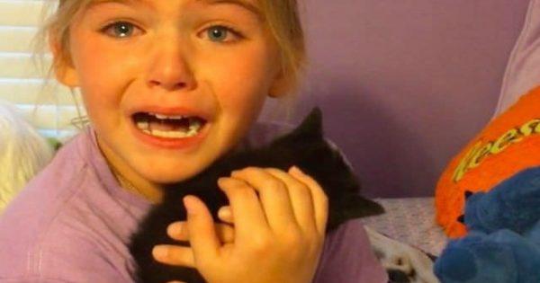 9歳の女の子、ママが連れ帰った子猫を見て大号泣! 涙ながらに大喜びする理由とは?