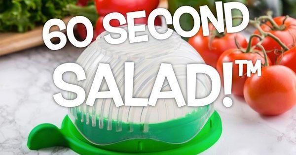 まな板も要らないお手軽さ!わずか1分でサラダができるボウルがキッチンを救うかも