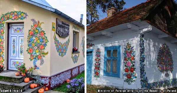 元気をもらえる!ポーランドの「花だらけの村」がまるで絵本の世界のよう