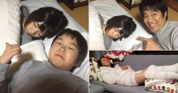 この「俺の女」感! ドラマ『左江内氏』の撮影現場で繰り広げられる寝顔盗撮合戦が微笑ましい