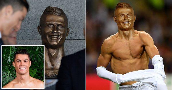クリスティアーノ・ロナウドの銅像完成! でもデキが悪すぎてネタにされる