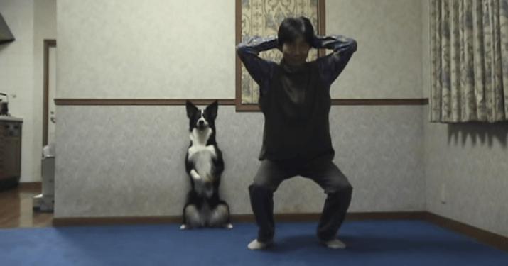 犬 スクワット2