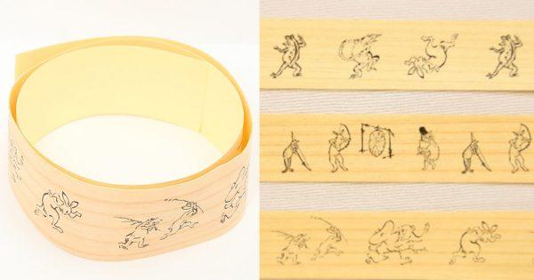 これぞ日本のマステだ!「鳥獣戯画」のマスキングテープが木目調で渋さ爆発
