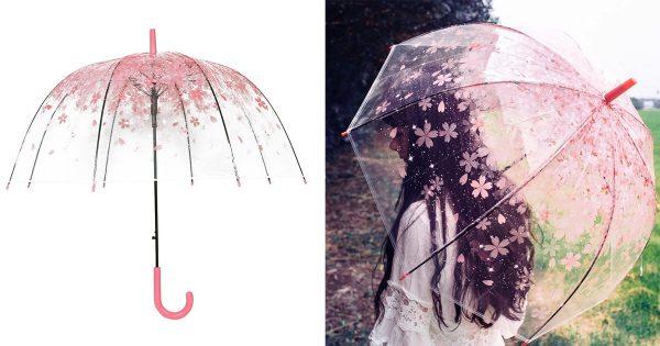 母の日にプレゼントしたい!「桜の花びら傘」が雨の憂鬱な気分を吹き飛ばす
