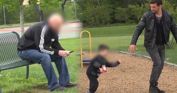 子どもを過信しちゃダメ。スマホに夢中な父親、目の前で息子を誘拐される