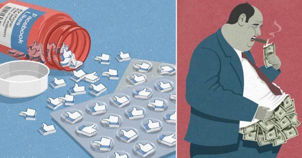Facebookで話題!現代の社会問題や風潮を描いた風刺画が的を射ていすぎ