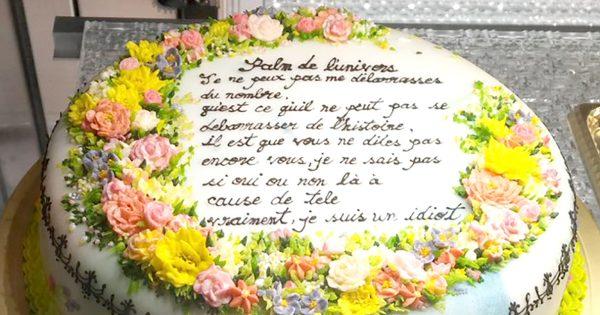 繊細な美しさに目を奪われる!コンテストに出品された「花畑のケーキ」に注目が集まる
