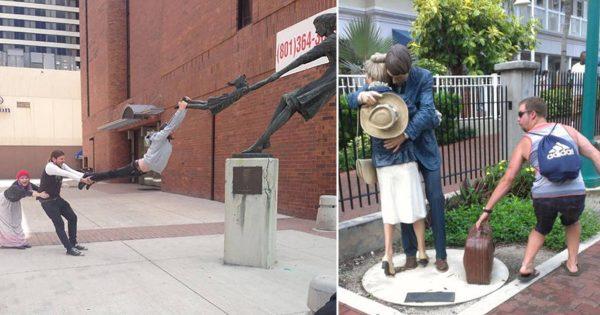 その発想はどこから?真似したくなる銅像と遊ぶ海外の人のクリエイティビティ10選