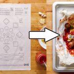 この発想はなかった!イラスト通りに置くだけで料理ができるレシピシート