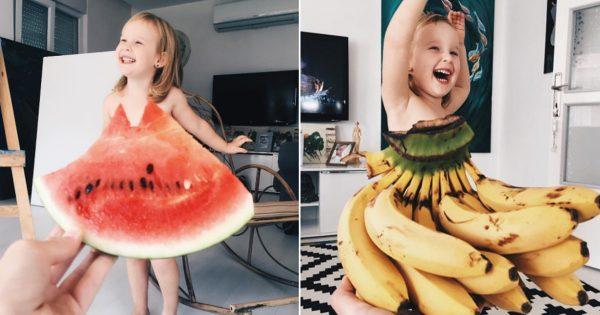 今日のお洋服はスイカにしよっかな~♪果物や野菜をドレスに見立てて着こなす女の子