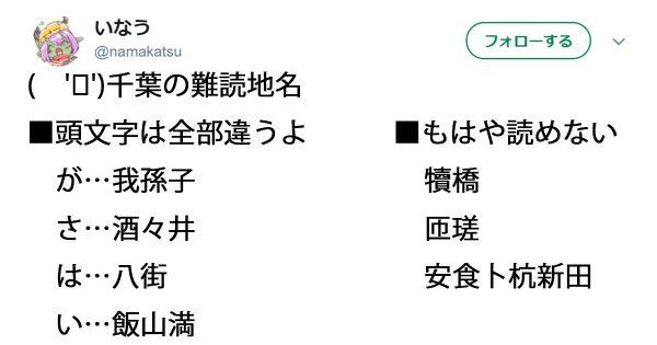 地元民もワカラナイ?千葉県の難読地名が激ムズすぎて震える