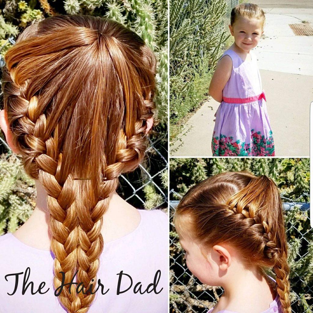 娘のヘアメイクをする父5