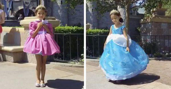 一瞬で変身!憧れのディズニープリンセスになれる「魔法のドレス」を作ったパパ