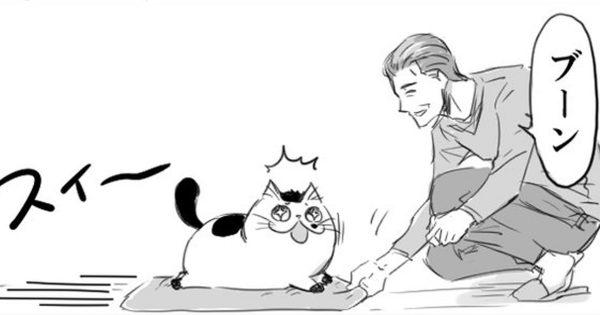 おじさまと猫番外編。家の中で走り回るふたりの姿が超微笑ましい