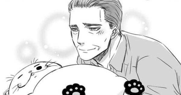 おじさまと猫番外編。ふくまるの匂いを嗅ぎまくるおじさまの変態っぷりに笑う