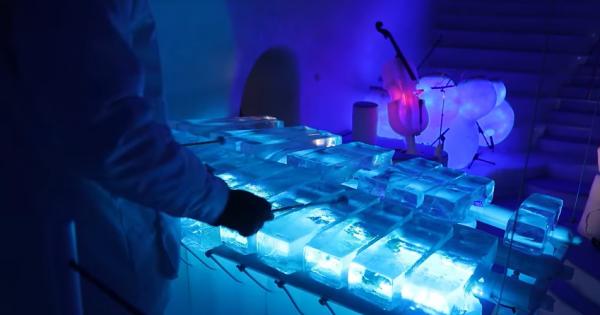 氷で作られた楽器で演奏するコンサートが幻想的!美しい音色に酔いしれる