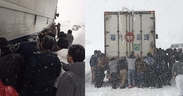 社員旅行中にトラック救助!豪雪のなかで体現されたとある「社訓」に胸が熱くなる
