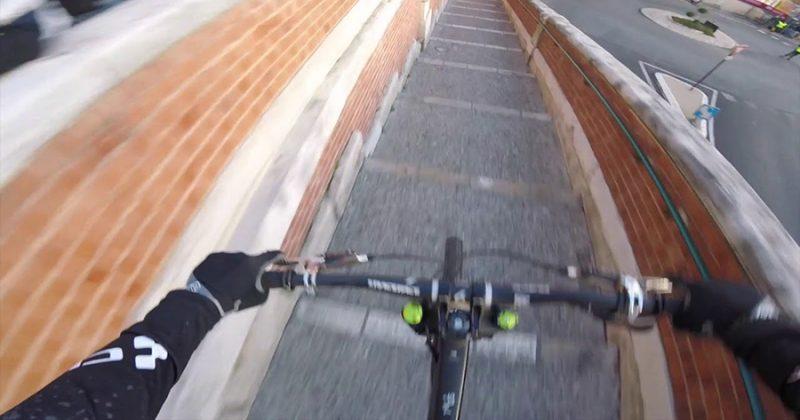 画像 レーサー目線にエキサイト!超高速で狭い路地を駆け抜ける自転車レースに鳥肌!