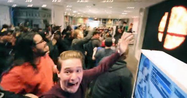 ニューヨークが揺れた!Switch版「スマブラ」発売が決定した瞬間、全員熱狂!